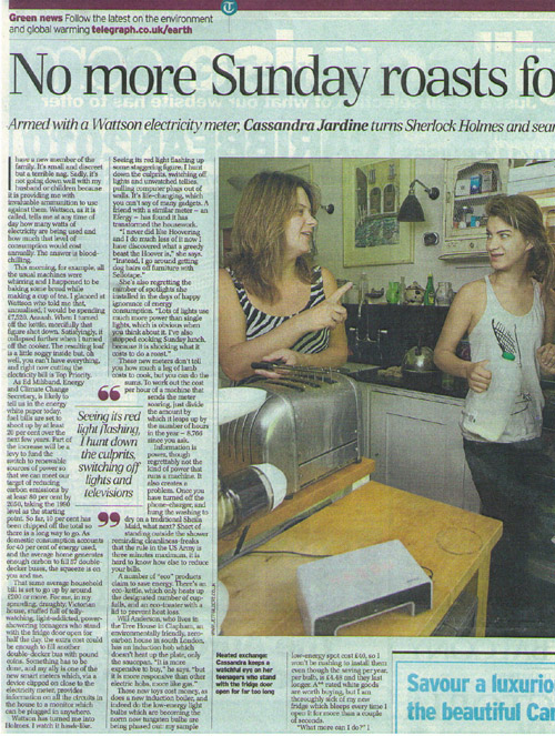Daily Telegraph 150709 Article pt1 new