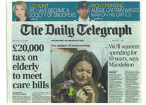 Daily Telegraph 150709 Masthead 1 new