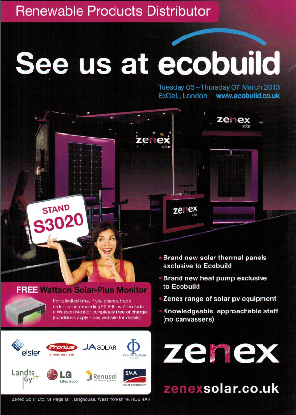 Zenex advert EcoBuild