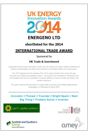 UK Energy & Innovation Award shortlist