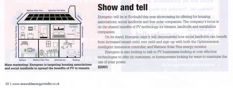 REI March - Ecobuild preview19032014